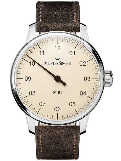 MeisterSinger No.01 Leather Strap Watch