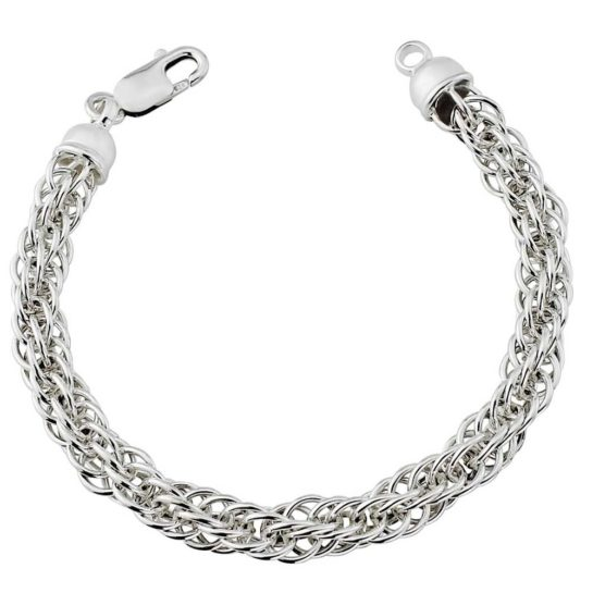 Silver Prince of Wales chain bracelet