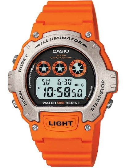 Casio Unisex Digital Orange Plastic Strap Watch