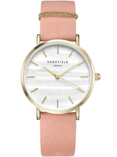 Rosefield Ladies Pink West Village Watch