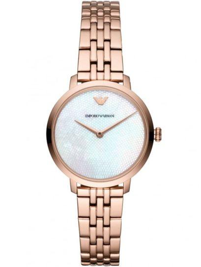 Emporio Armani Ladies Rose Gold Plated Bracelet Watch