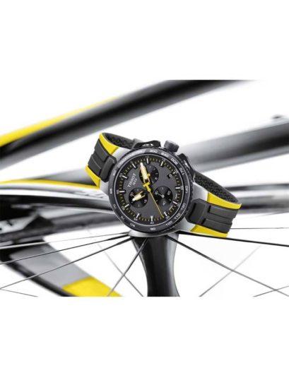 Tissot Mens T-Race Tour de France 2018 Yellow Strap Watch
