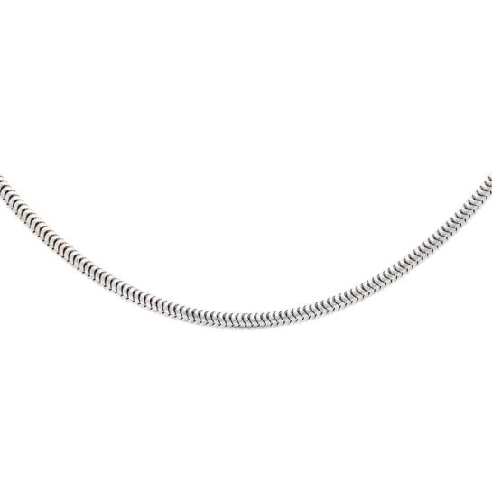 T H Baker Silver 18 Inch Round Snake Chain necklace