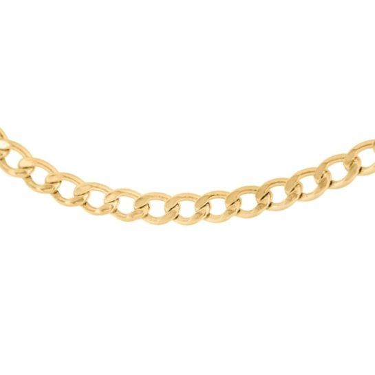 T H Baker 9ct Gold 20 Inch Hollow Flat Curb Chain necklace