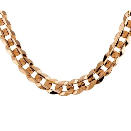 "Second Hand 9ct Yellow Gold 20"" Flat Curb Chain"
