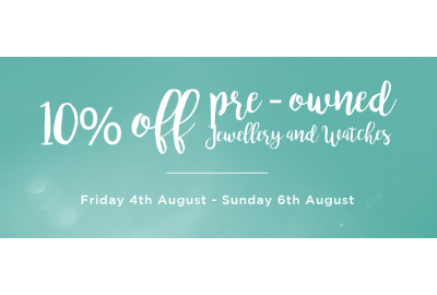 10% Off Pre-Owned At Our Walsall Store This Weekend Only