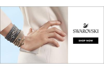 Swarovski Autumn Winter Collection campaign banner.