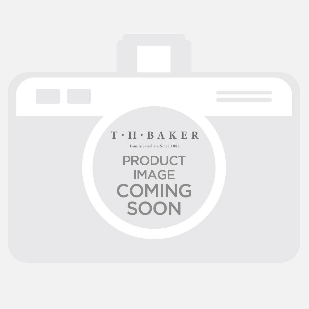 Tresor Paris Bissey Titanium 8mm Grey Crystal Stud Earrings 016009