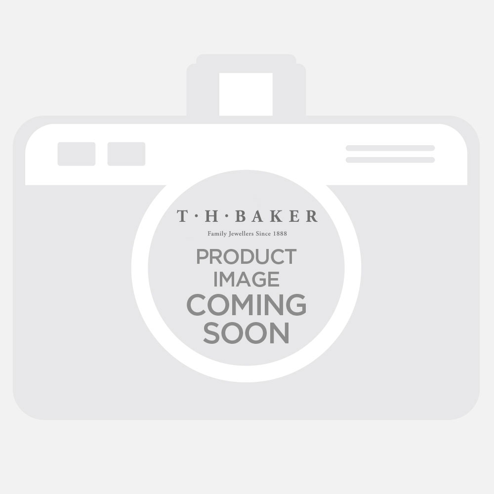 Bouton Silver 7mm Round Cubic Zirconia Pendant BGN106