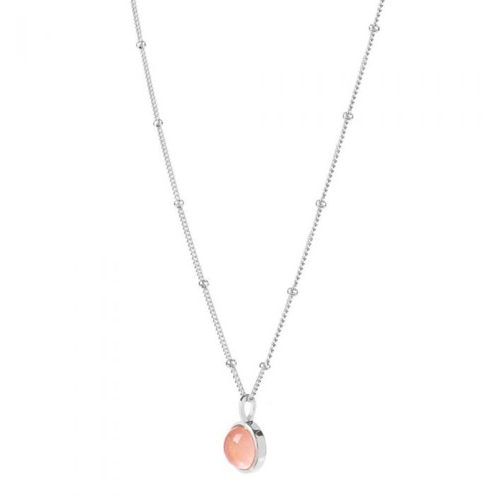 d695a8daa8313 Daisy London Rose Quartz Healing Necklace HN1005_SLV