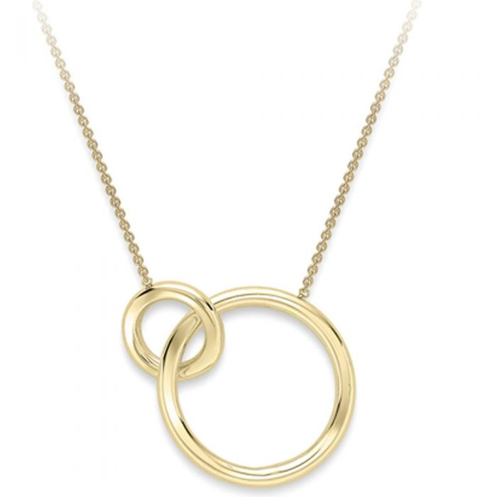 36a8bf73c3 9ct Gold Interlocking Rings Necklace CN132-17