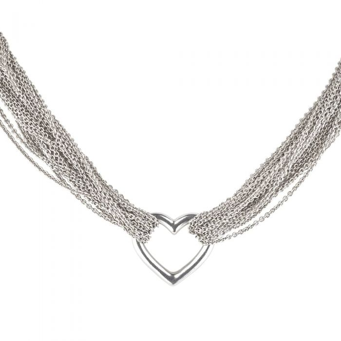 4d999bfd30218 Second Hand Tiffany and Co Sterling Silver Heart T-Bar Necklet 4325167