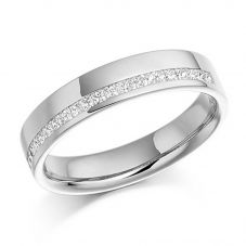 18ct White Gold 0.25ct Channel Set Princess Cut Half Eternity Ring HET950 18W