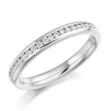 18ct White Gold 0.50ct Channel Set Round Brilliant Full Eternity Ring FET889 18W M
