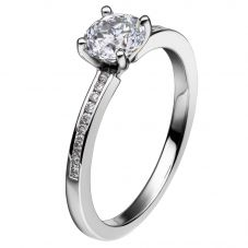 Mastercut Simplicity Four Claw 18ct White Gold Diamond Solitaire Ring C5RG007W