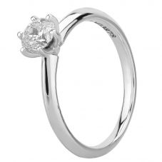 Mastercut Simplicity Six Claw 18ct White Gold 0.50ct Diamond Solitaire Ring C12RG001 050W