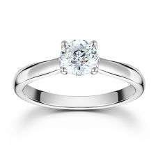 Mastercut Starlight 18ct White Gold Four Claw Diamond Solitaire Ring C10RG001