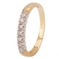 9ct Gold Seven Stone Half Eternity Ring 080-JR0399Y