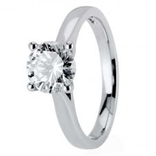1888 Collection Platinum Certificated Four Claw Diamond Solitaire Ring RI-2016(1.25CT PLUS)- F/SI1/1.23ct