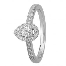 1888 Collection Platinum Certificated Pear-cut Diamond Cluster Ring DSC42(5X3)0.20CT PLUS