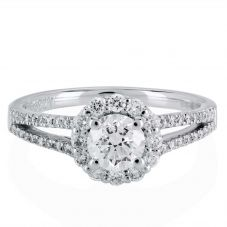 1888 Collection Platinum Certificated Diamond Cluster Ring DSC64(5.5)0.70CT PLUS