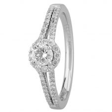 1888 Collection Platinum Certificated Diamond Cluster Ring DSC64(4.0)0.25CT PLUS