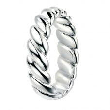 Silver Wide Twist Ring R3450