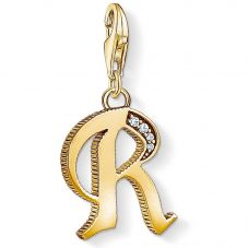 Thomas Sabo Gold Plated Cubic Zirconia R Charm 1624-414-39