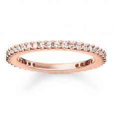 Thomas Sabo Rose Gold Plated Small Clear Cubic Zirconia Narrow Eternity Ring TR1980-416-14