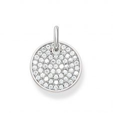 Thomas Sabo Ladies Love Bridge Silver Pavé Pendant LBPE0011-051-14