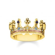 Thomas Sabo Gold Plated Crown Ring TR2224-959-7