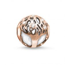 Thomas Sabo Rose Gold Plated Tree Of Life White Karma Bead K0169-841-14