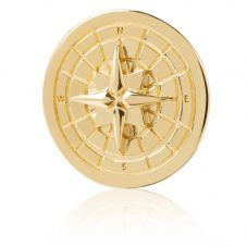 Daisy London 18ct Gold Plated Compass Halo Coin HC8002