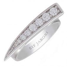 Sif Jakobs Ladies Rhodium Plated 'Pila' Graduated White Cubic Zirconia Ring SJ-R1010-CZ