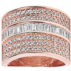 Sif Jakobs Ladies Rose Gold-Plated 'Corte Grande' White Cubic Zirconia Ring SJ-R003-CZ(RG)