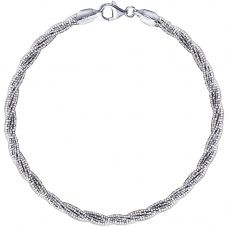 The Real Effect Silver Twist Bracelet REB7WHT