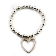 ChloBo Iconic Small Ball Large Open Heart Bracelet MSBLOH