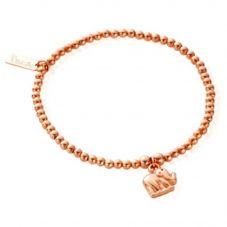 ChloBo Rose Gold Plated Cute Tiny Elephant Bracelet ROSECUTECHARMEL