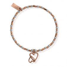 ChloBo Inner Spirit Two Tone Love Hearts Bracelet MBCFB573
