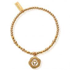ChloBo Cherabella Gold Plated Throat Chakra Bracelet GBCC752