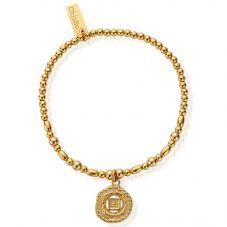 ChloBo Cherabella Gold Plated Root Chakra Bracelet GBMN748