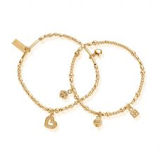 ChloBo Ariella Gold Plated Heart And Soul Set Of 2 Bracelet GBSETH21017