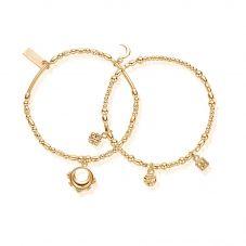 ChloBo Ariella Gold Half Moon Set Of 2 Bracelet GBSETM21026