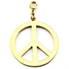 ChloBo Iconic Large Gold Plated Peace Pendant Charm