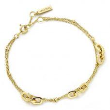 Ania Haie Gold Plated Triple Links Chain Bracelet B004-05G
