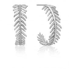 Ania Haie Tropic Thunder Sterling Silver Palm Hoop Earrings E011-01H
