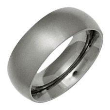 Ti2 Titanium 6mm Satin Court Ring T.LR660.G