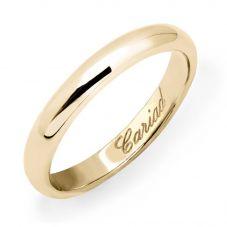 Clogau 9ct Yellow Gold 3mm Cariad Wedding Ring WED3DY