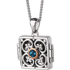 Clogau Kensington Blue Topaz Locket Necklace 3SKLP2