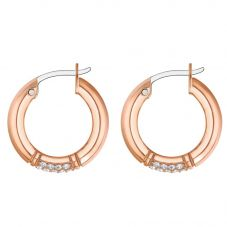 Tommy Hilfiger Rose Gold Plated Crystal Hoop Earrings 2780213